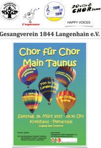 Werbeplakat für das Konzert Chor für Chor 2017