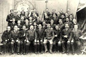 """Männergesangsverein """"Concordia"""" im Jahr 1893"""