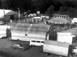 """Der Festplatz """"Unter den Eichen"""" beim 130 jährigen Vereinsjubiläum 1974"""