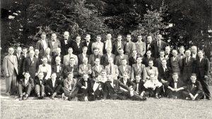 Die Mitglieder beim Fest 1951