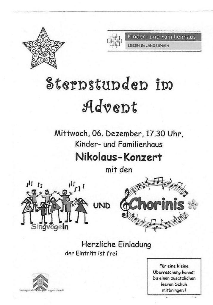 Einladung zum Nikolauskonzert